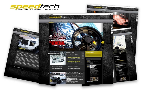 speed tech racing website front page